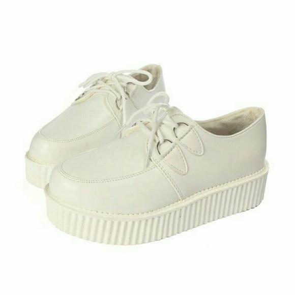 Shoes | White Platform Creepers | Poshmark